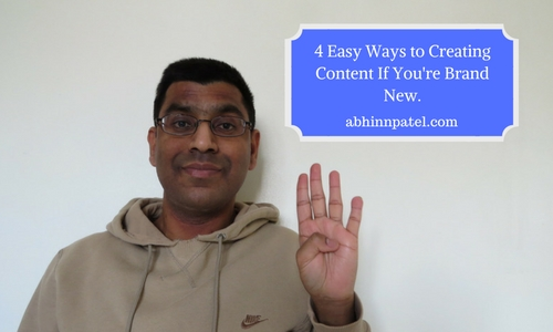 easy ways to create content